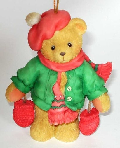 Cherished Teddies - Ornament (Bear with Dangling Mittens)
