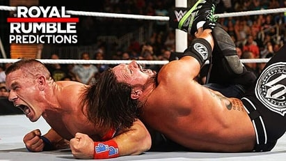 John Cena vs. AJ Styles (Royal Rumble 2017)