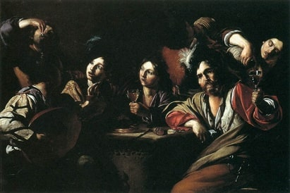 Tavern Scene with a Lute Player